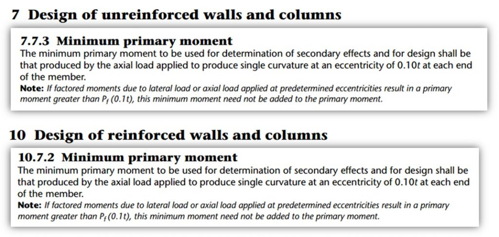 Horizontal spanning wall post 16 S304 checking minimum primary moment